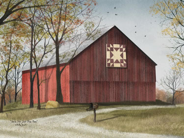 Amish Star Quilt Block Barn