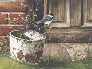 Chickadee at the Door