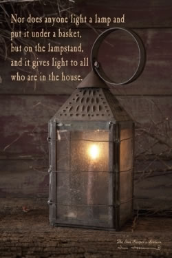 Innkeeper's Lantern with verse