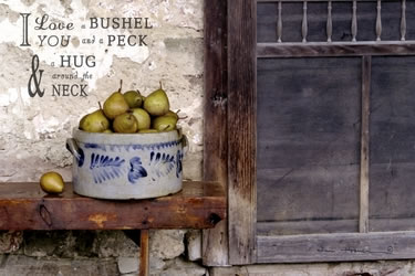 Bushel and a Peck Crock of Pears