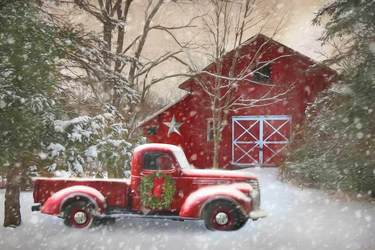 Secluded Barn with Truck