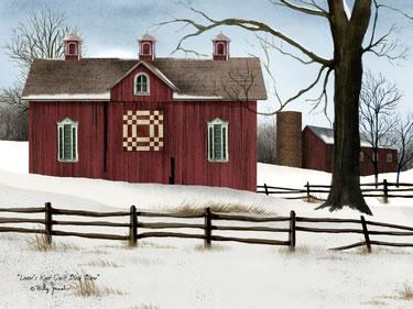 Lover's Knot Quilt Block Barn