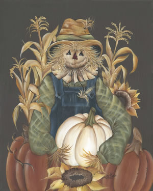 Harvest Gathering Scarecrow