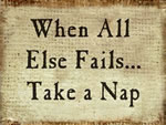 When All Else Fails...Take A Nap