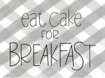 Gray Plaid Eat Cake For Breakfast