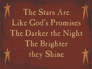 The Stars Are Like Gods Promises The Darker The Night The Brighter They Shine