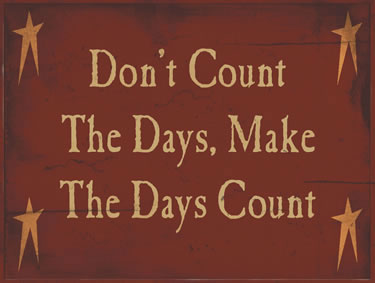 Don't Count The Days; Make The Days Count