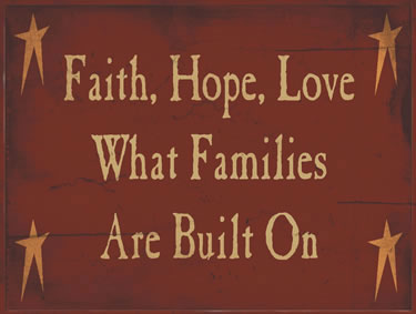 Faith Hope Love What Families Are Made Of