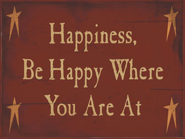 Happiness, Be Happy Where You Are At