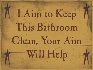 I Aim To Keep This Bathroom Clean, Your Aim Will Help