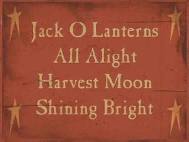 Jack O Lanterns All A Light Harvest Moon Shining Bright