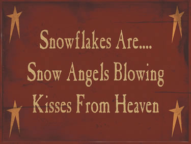 Snowflakes Are...Snow Angels Blowing Kisses From Heaven