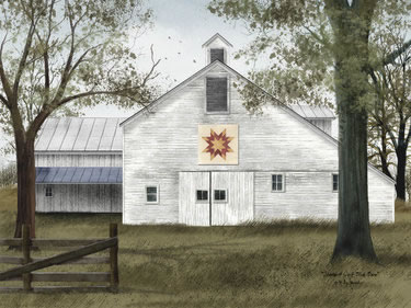 Starburst Quilt Block Barn