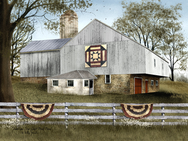 American Star Quilt Block Barn