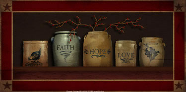 Faith, Hope & Love Crocks