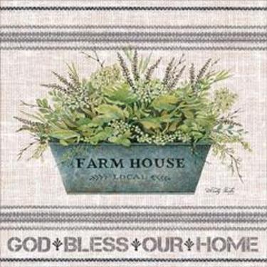 Galvanized Bucket Farmhouse God Bless