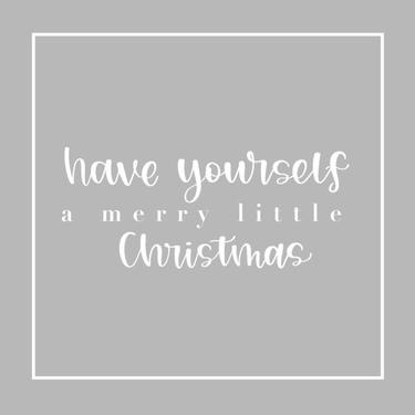 Gray Merry Little Christmas
