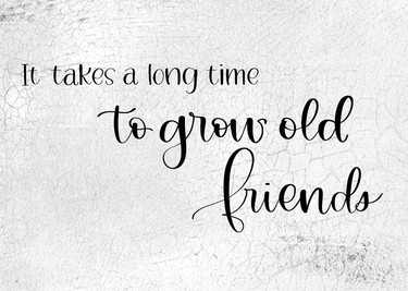 Takes a Long Time To Grow Old Friends