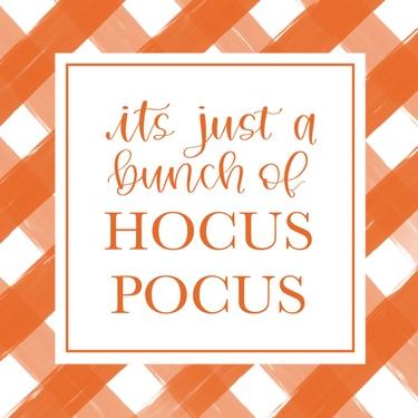 Orange Plaid Hocus Pocus