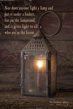 Innkeeper's Lantern with verse