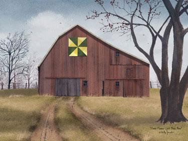 Double Pinwheel Quilt Block Barn
