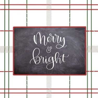 Red Green Plaid Merry & Bright