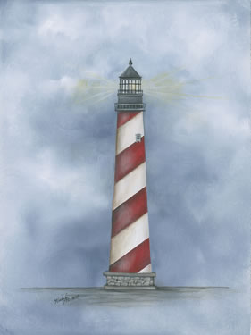 Lighthouse - Red Stripe