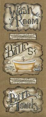 Bath Trio with Words
