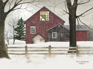 Pine Tree Quilt Block Barn