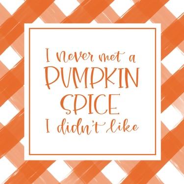 Orange Plaid Pumpkin Spice