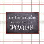 Red Green Plaid Build A Snowman