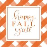 Orange Plaid Fall Y'all