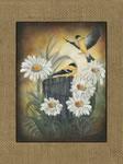 Goldfinches - Burlap