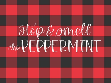 Smell The Peppermint