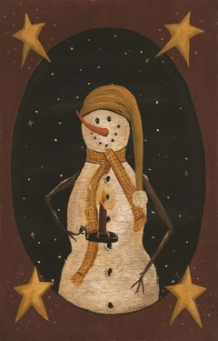 Snowman with Candle