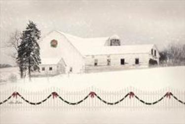 Snowy Barn on Hill