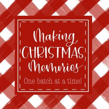 Red Plaid Making Christmas Memories
